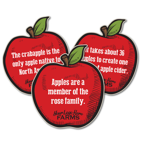 Apples Fact Signs (set of 5 facts)
