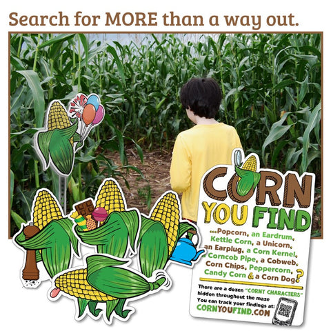 Corn 'seek & find' Game Set: Corny Character Challenge