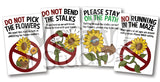 Sunflower Maze Rule Signs (8 pack)