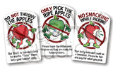 Apple 'Pick-Your-Own' Rules (6 pack)