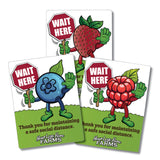 Wait Here for social distancing (set of 5) -  Berry Picking