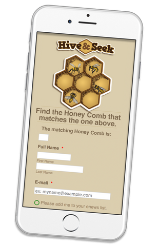 Hive and Seek game Add-on: Mobile Data Form
