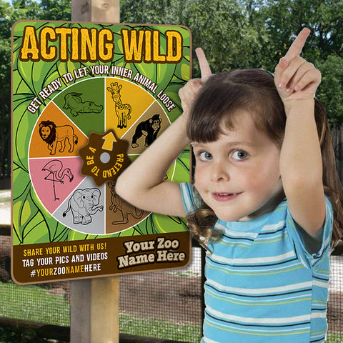 'Acting Wild' Silly Spinners (ZAA)