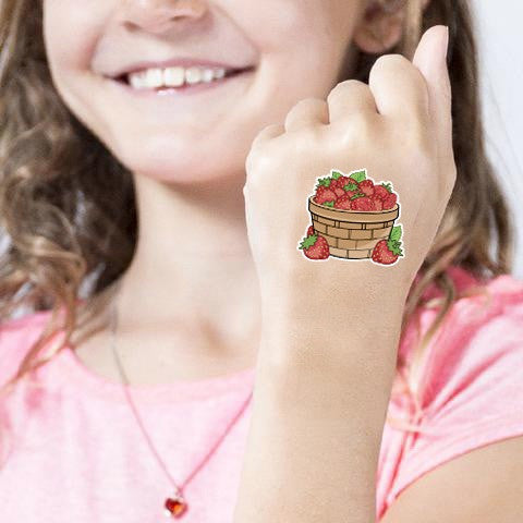 Berry Basket Case Game Add-on: 1,000 strawberries Tattoos