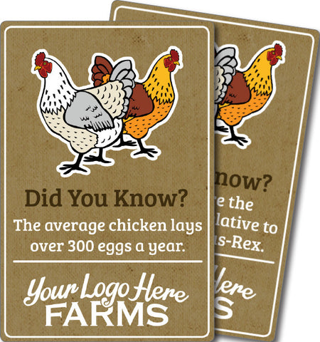 Farm Animal Trivia Signs - Chicken
