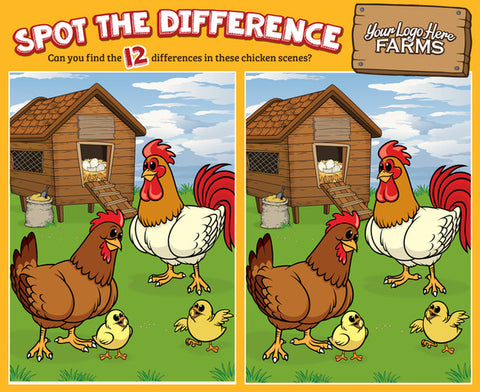 *NEW: Chickens - Spot the Difference