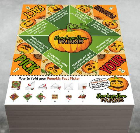 Pumpkin Fact Pickers  (foldable take-home)