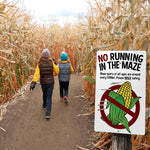 Corn Maze Rule Signs (8 pack)