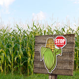 Directional Character Signs- set of 3 Large Corn