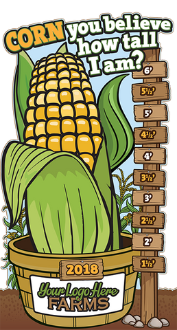 How Tall This Year?  (Corn and Scarecrow)