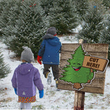 Directional Christmas Signs- set of 3 Large Trees