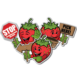 U-Pick Berry Character Signs (sets of 3)