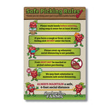 Public Health Rules (2 Boards)-  Berry Picking