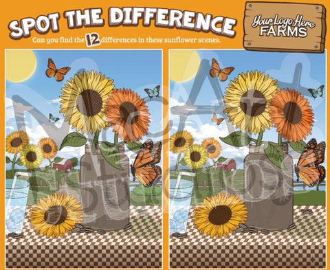 Sunflowers - Spot the Difference
