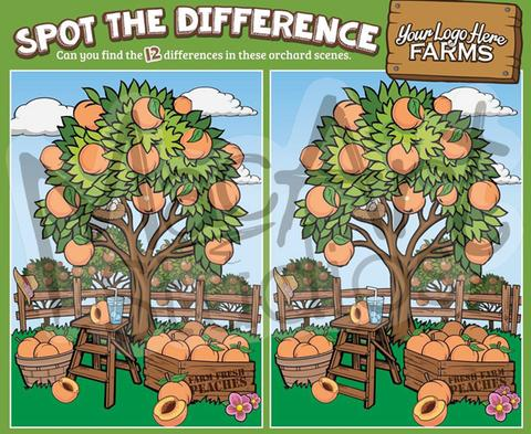 Peach Trees - Spot the Difference