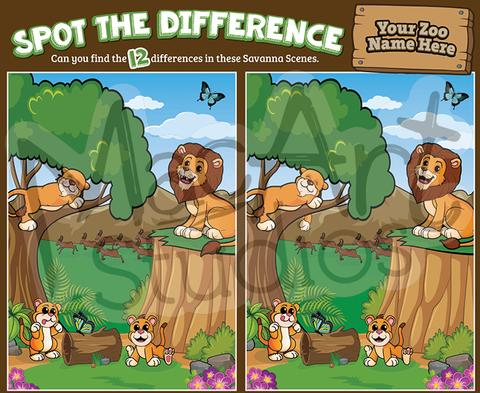 Lion Savanah - Spot the Difference