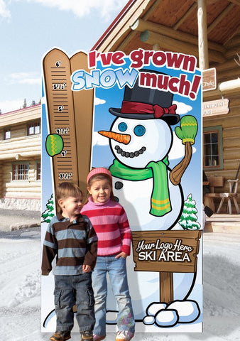 How Tall This Year? Snowman Ski hill