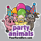 Party Animal Tattoos