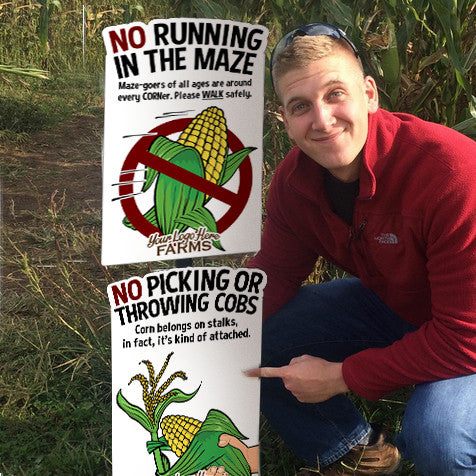 Corny Character Corn Maze Rules (5 Pack)
