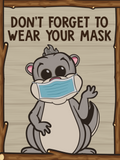 Face Covering Reminders- Set of 5 (Critters)