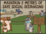 Social Distance Reminders- Set of 5 (Critters)