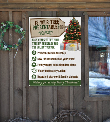 Christmas Tree Info Sign