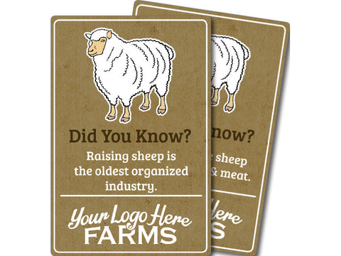 Farm Animal Trivia Signs - Sheep