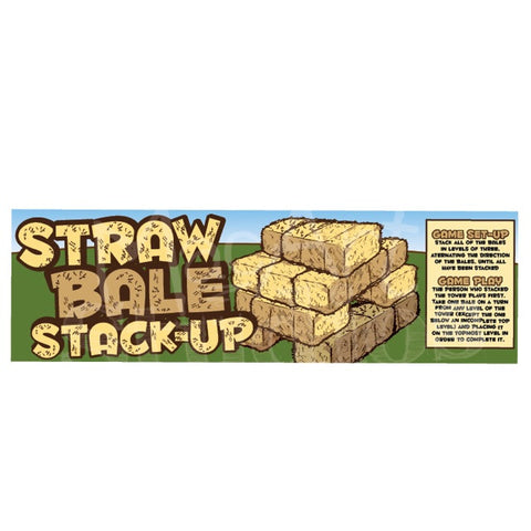 Download: 'Strawbale' or 'HayBale' StackUp' Sign set