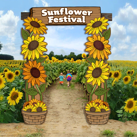 Sunflowers Archway Entrance