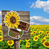 Directional Character Signs- set of 3 Large Sunflowers
