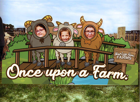 Farm animal Photo Opp Boards