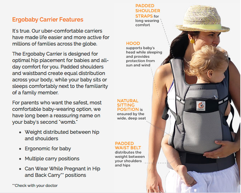 Ergobaby Performance Ventus Graphite Purple