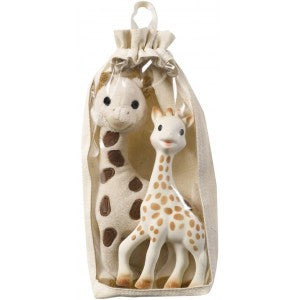 Sophie la girafe® - Gift set: Giraffe Soft toy + Sophie the Giraffe Teether
