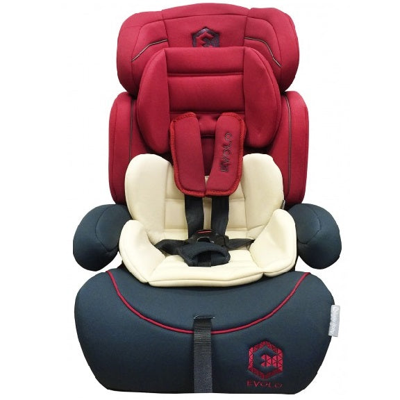 Lucky Baby-Evolo™ Safety Car Seat Red/Blue Group1/2/3(9-36Kgs)