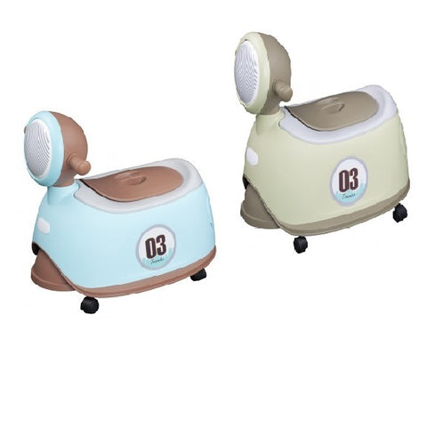 Lucky Baby - Motor Potty with Wheel (Blue/Green)