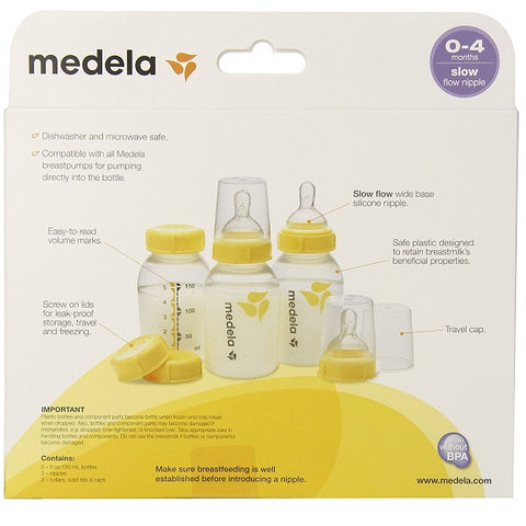 Medela - Medela - Breastmilk Bottle Set 5 oz/150ml 3 in 1 (Imported)