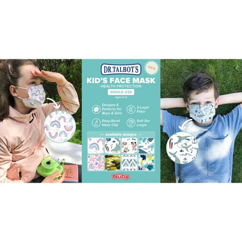 Nuby - Disposable Kids Face Masks, 10 Pcs