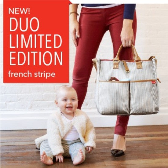 Skip Hop Duo Deluxe Diaper Bag - French Stripe