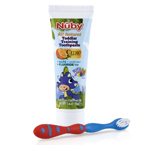 Nuby - Toddler Training Toothpaste & Toothbrush (Available in 3 Designs)