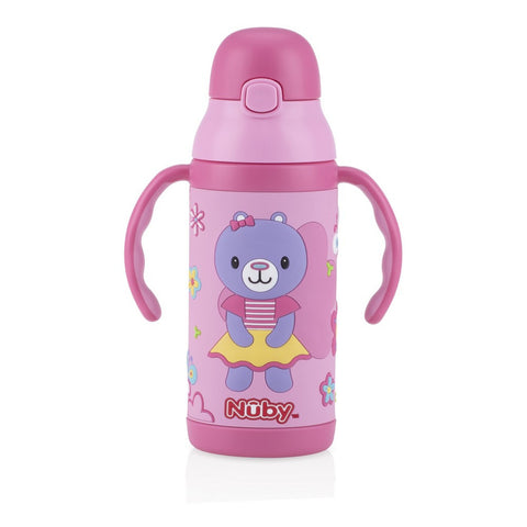 Nuby Stainless Steel 3D Insulated Cup 400ml (Available in 3 Designs)