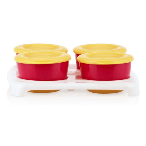 Nuby 4 Pk Fresh Food Snack Pots in Tray