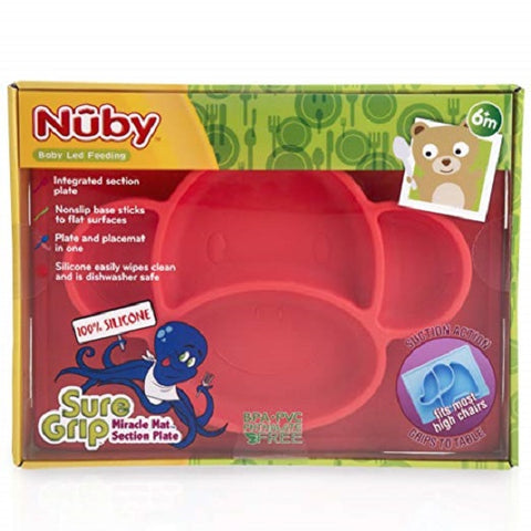 Nuby - Sure Grip™ Miracle Mat™ Section Plate (Available in 3 Designs)