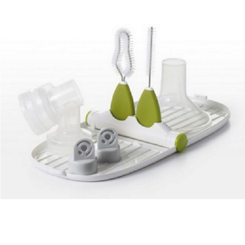 OXO Tot - Breast Pump Parts Drying Rack with Detail Brushes