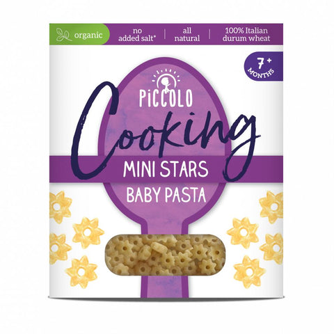 PICCOLO - ORGANIC COOKING  MINI STARS BABY PASTA 500g (FOR 7M+)