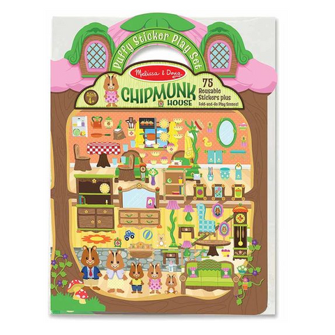 Melissa & Doug - Puffy Sticker Play Set Chipmunk House