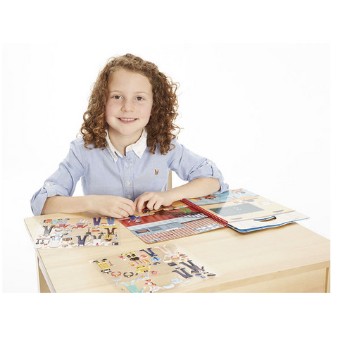 Melissa & Doug - Puffy Sticker Activity Book - Cool Careers