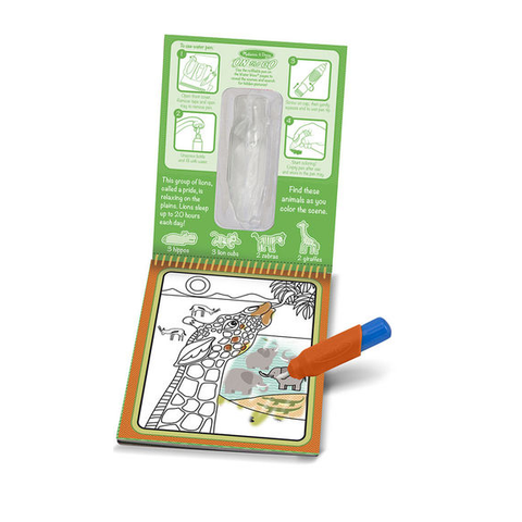 Melissa & Doug - Water Wow! Safari Water Reveal Pad - ON the GO Travel Activity