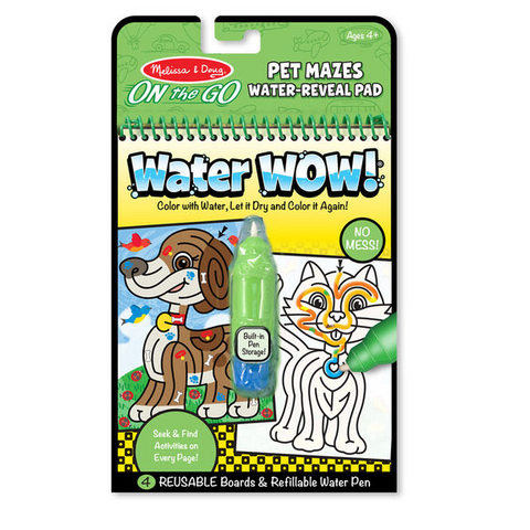 Melissa & Doug - Water Wow! Pet Mazes - ON the GO Travel Activity