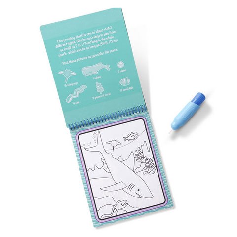Melissa & Doug - Water Wow! Under The Sea Water Reveal Pad - ON the GO Travel Activity