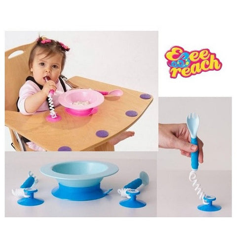 Ezee-Reach - Stay-Put Cutlery + Bowl (Available in 2 Colors)